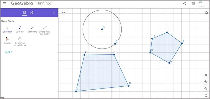 Phần mềm Geogebra