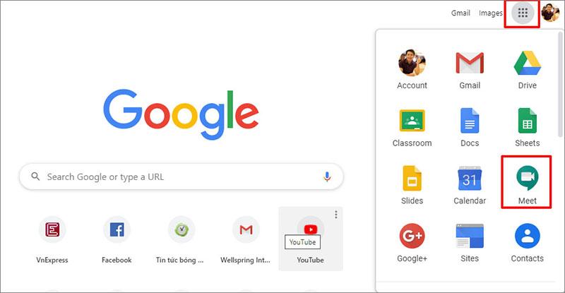 Làm phương pháp nào để dùng Google Meet trong Gmail?