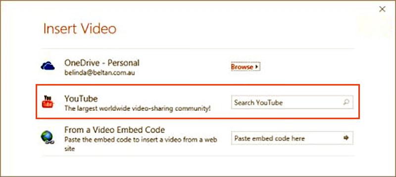nhúng video youtube vào slide