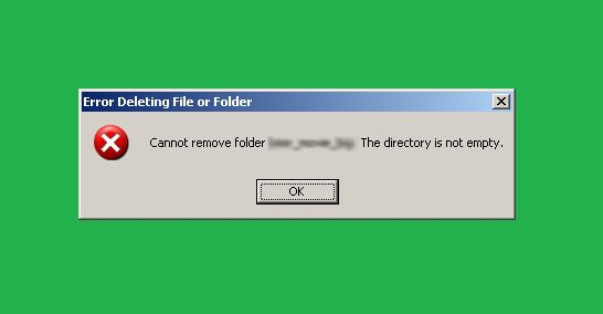 cannot remove directory not empty